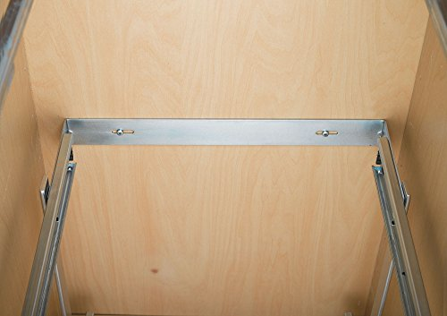 Rev-A-Shelf - 5WB2-2122-CR - 21 in. W x 22 in. D Base Cabinet Pull-Out Chrome 2-Tier Wire Basket by Rev-A-Shelf (Image #5)