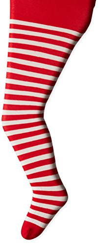 (Jefferies Socks Little Girls'  Stripe Tights, Red/White, 4-6)