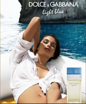 Scented LargePRINT AD For Dolce & Gabbana Light Blue Boat Cove - Gabbana Ad Dolce