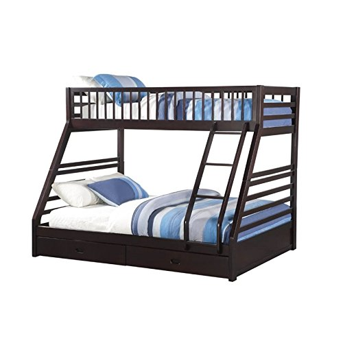 ACME Furniture Jason XL Twin over Queen Bunk Bed in Espresso