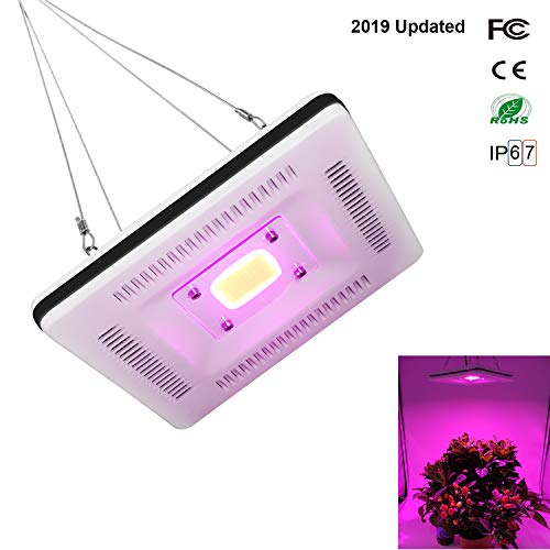 LED Grow Light Waterproof, Professional Full Spectrum Plant Light for Seedling, Growing, Flowering in Small Grow Tent, Best Grow Lights for Indoor Plants, 300W CFL & HPS & CMH Grow Lights Equivalent