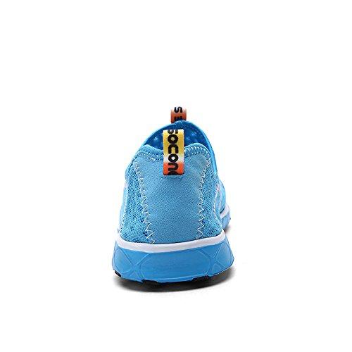 KISCHERS Verano Hombres Zapatillas De Malla Transpirable De Secado Rápido deportes Zapatos de Agua Azul