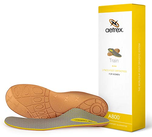 Women's Train Orthotic |Insole for Exercise| Perfect for Plantar Fasciitis/Heel Pain, Flat Feet/High Arches & Pronation
