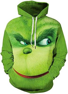 NAID Sudaderas con Capucha Verdes Fuzzy 3D Sudadera con Capucha ...