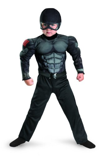 G.i. Joe Retaliation Snake Eyes Toddler Muscle Costume, Black, Medium