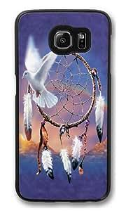Dove Dreamcatcher Polycarbonate Hard Case Cover for Samsung S6/Samsung Galaxy S6 Black