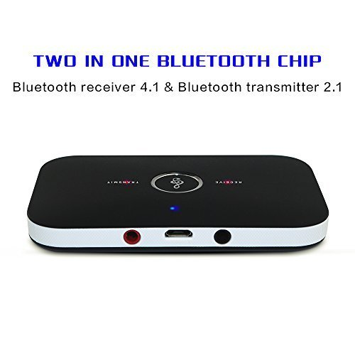 U2C Bluetooth Transmitter Receiver, Multi-functional Bluetooth 2-in-1 Audio Transmitter and Receiver Bluetooth Adapter Portable Audio Player for Headphone Mobile Phone Computer Tablet PC TV
