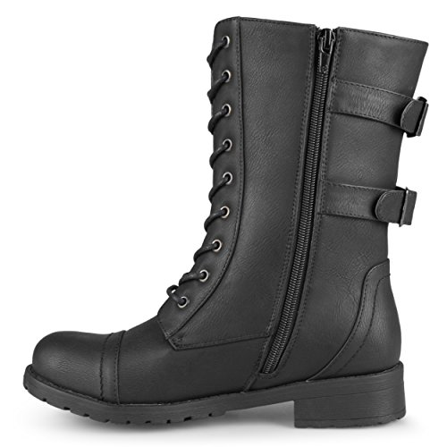 9a014d7eb1f Journee Collection Womens Buckle Pocket Lace-up Combat Boots 60%OFF ...