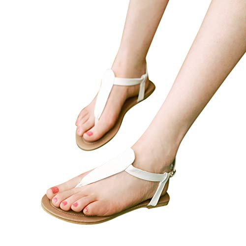 Xinantime Women's Ultra Light Needle Flat Sandals Herringbone Pattern Set Foot Shoes Party Holiday Casual Shoes ()