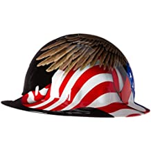 Fibre-Metal by Honeywelll E1RW00A006 Spirit of America Full Graphic Brim Safety Hat