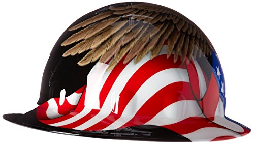 Full Graphics Hard Hat - Fibre-Metal by Honeywelll E1RW00A006 Spirit of America Full Graphic Brim Safety Hat