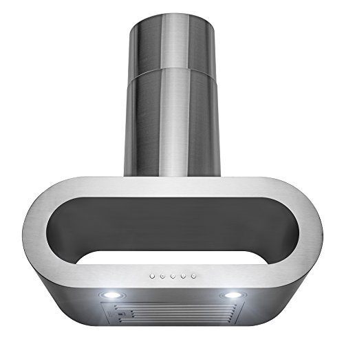 AKDY 30 in. 400 CFM Ducted Wall Mount Stainless Steel Range Hood with LED Lights