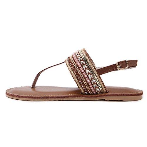 fondo eolica piatto dito femminili nazionale svuotata brown sandali trentotto sandali un i boemia GTVERNH qHwg1p4c