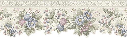 Wallpaper Border - Floral Prepasted Wall Border b75742