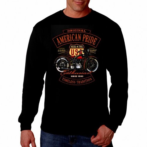 Route 66 Motorcycle (American Biker Rider Long sleeve Route 66 Shirt Highway Motorcycle Thermal Tee Black,XX-Large)