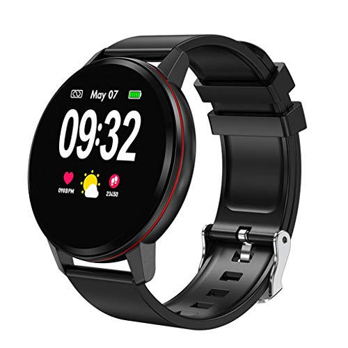 Smart Watch,salaheiyodd Women Men Fitness Tracker with Heart Rate & Blood Pressure Monitor for Android & iOS, Waterproof Activity Tracker Watch with Sleep Monitor, Calorie Counter & Pedometer (Black)