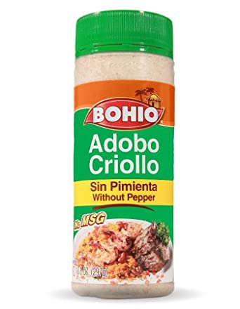 Amazon Com Bohio Seasoning Without Pepper Adobo Criollo Sin Pimienta Excellent For Chicken Fish Beef Pork 16 5 Oz Grocery Gourmet Food