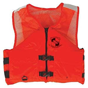 Stearns I424ORG Industrial Work Zone Life Vest 2XL from STEARNS