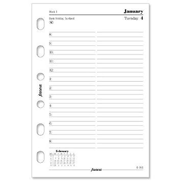 Filofax 2013 - Recambio de hojas para agenda (día por hoja ...