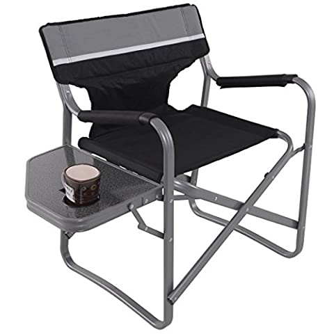 Director's Chair Folding Side Table Outdoor Camping Fishing Cup Holder - Over Dual Reclining Loveseat