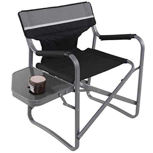New Camping Fishing Cup Holder Director's Chair Folding Side Table Outdoor - Leather Oak Folding Chair