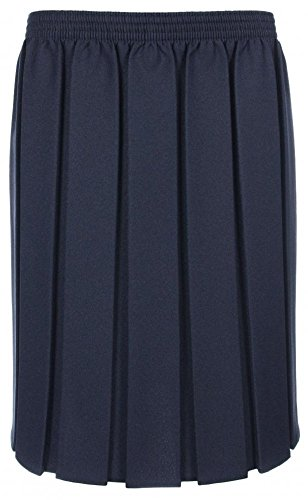 Girls Ladies School Box Pleated Elasticated Skirt Formal Ages 2 – 18 + Adult Sizes (8 Colours)