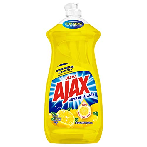 Ajax Super Degreaser Dish Liquid, Lemon, 28 Ounce