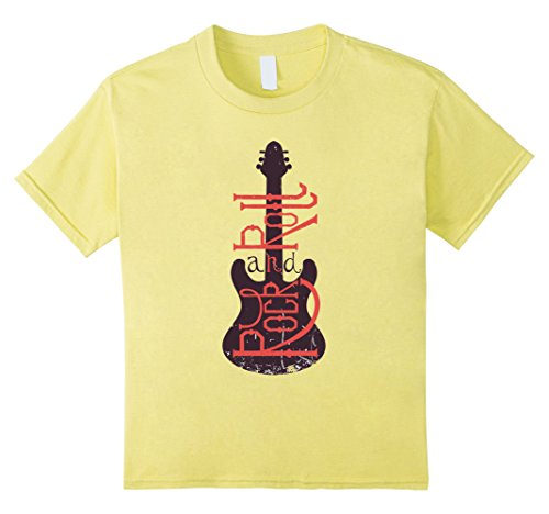 Kids Rock & Roll With Guitar T Shirt 4 (90's Rock Band Costumes)