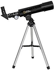 National Geographic 50/360 telescoop met tafelstatief van aluminium, 60-voudige vergroting en zenitspiegel voor land- en planeetobservaties, zwart