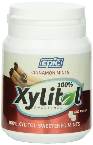 Price comparison product image Epic Dental 100% Xylitol Sweetened Breath Mints,  Cinnamon,  180 Count