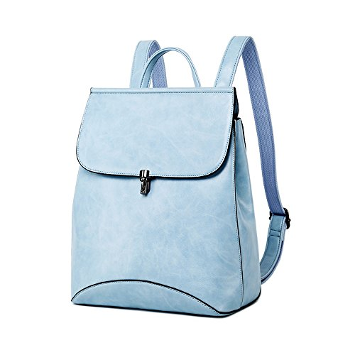 WINK KANGAROO Fashion Shoulder Bag Rucksack PU Leather Women Girls Ladies Backpack Travel bag (Sky blue) by WINK KANGAROO