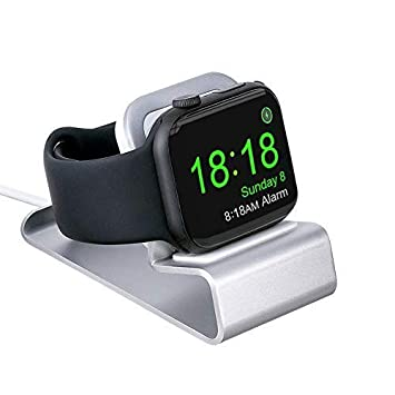 MTRONX Soporte Cargador Compacto para Apple Watch Stand, Bases de Carga de iWatch, Modo Reloj de Mesa Ligero Aluminio Dock Compatible con Apple Watch ...