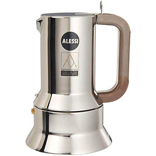 Alessi Coffee - Alessi 9090/6 Stovetop Espresso Coffee Maker 6 Cup