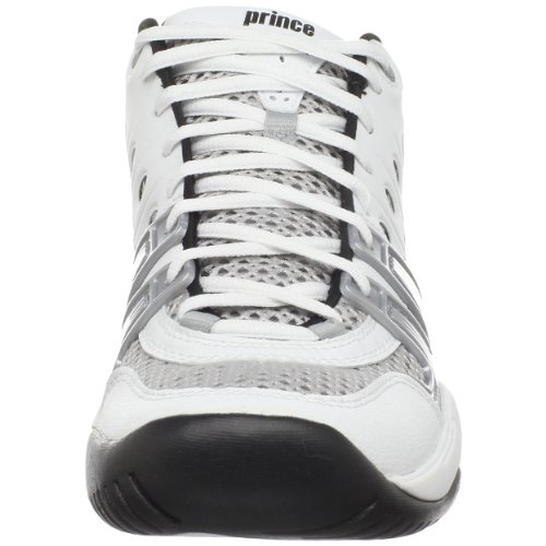 Prince Herren T22 Mid Tennisschuh Weiß / Schwarz / Silber