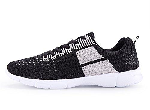 Un Autre Été Mens Fashion Sneakers Respirant Chaussures De Sport Athlétiques Noir Et Gris