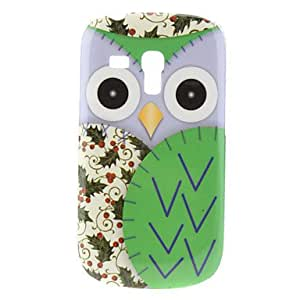 CL - Caso duro Green Owl Pattern para Samsung Galaxy S3 I8190 Mini