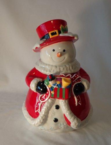 COOKIE JAR SNOWMAN WITH TOP HAT