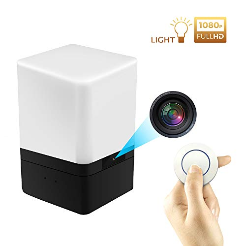 DEXILIO WiFi Hidden Camera Night lamp,1080P HD Wireless Spy Night Light Mini Nanny Cam with Motion Detection for Home Office Security Surveillance,App Control & Remote Viewing and Free 32GB Card