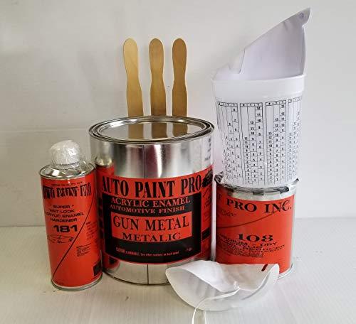 Gun Metal Metalic Single Stage Acrylic Enamel Auto Paint Restoration Car Paint Supplies by Auto Paint Pro (Image #1)