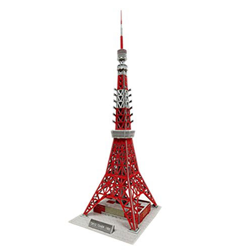 (PANDA SUPERSTORE [Tokyo Tower] 3D Puzzle Children's Funny Building Model Puzzle)