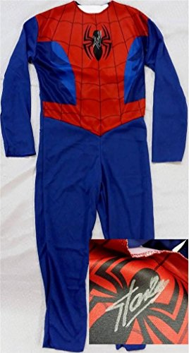 Stan Lee Signed 39″ Kids Spider Man Outfit Costume PSA/DNA COA X82134