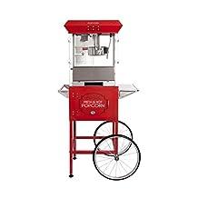 "Bullseye's Commercial Grade 8oz Popcorn Machine with cart the""Oscar"