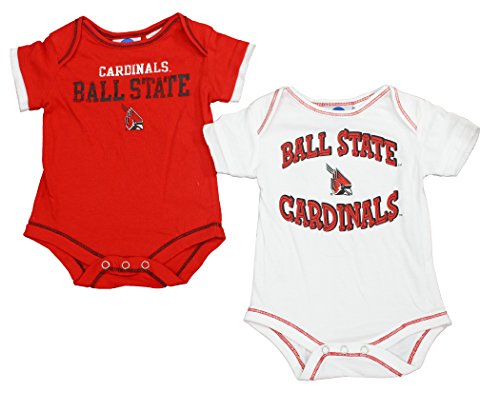 Outerstuff Ball State Cardinals Baby Clothing, University 2 Piece Creeper Apparel Set ()