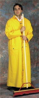 Riding Raincoat, 0.35 mm PVC/Polyester, Yellow, 60 in, 2X-Large (5 Pack)