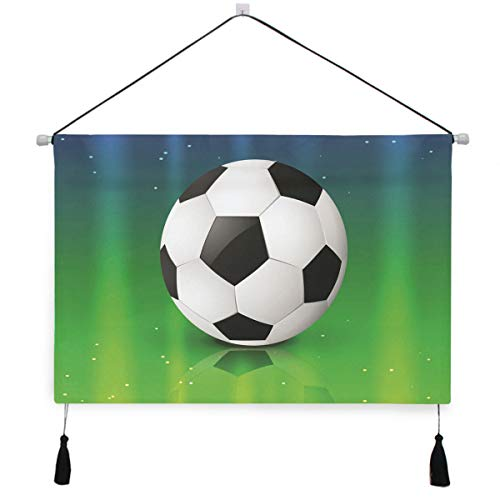 Hulahula Football Soccer Star Wall Art Hanging Canvas Print Painting Artwork Poster Pictures for Living Room Bedroom Home Office Decor ()