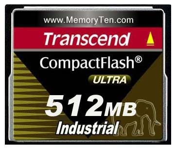 Transcend MC Compact Flash Card 512MB Industrial Ultra PIO Mode ...