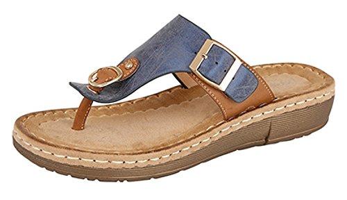 Boulevard - Sandalias de vestir de Material Sintético para mujer Blue / Tan