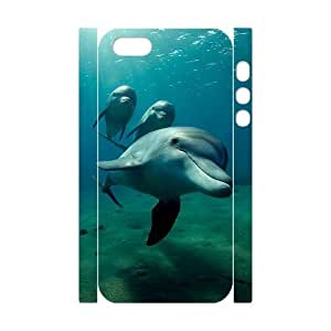 Custom New Case for Iphone 5,5S 3D, Dolphins Phone Case - HL-R680930