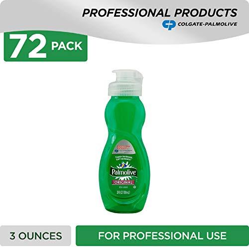 PALMOLIVE Dishwashing Liquid, Dish Soap, Dish Liquid Soap, Phosphate Free, pH Balanced, Dishwasher Cleaner, 3 Ounce Bottle (Case of 72) (201417) (Best Travel Soap Dish)