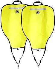 Baosity 2Pcs/Set High Visibility Reflective Scuba Diving Dive 50lbs Lift Bag SMB Safe Marker Buoy & Over P